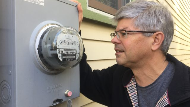 This NJ resident is looking forward to smart metering technology for his old-fashioned meter so he can track his family's energy consumption and understand how best to save energy. Not yet available in NJ, advanced metering infrastructure would give him the ability to see how his household's energy use changes over time.