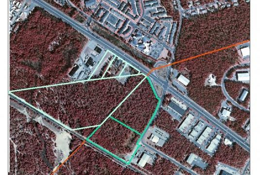 Site of proposed Walmart in the Pinelands National Reserve between Manchester Township and Toms River.  Photo courtesy of Pinelands Preservation Alliance.